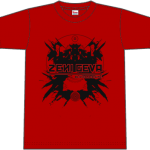 "ZENI GEVA ""Alive and Rising"" T-SHIRT (red)"