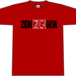 "ZENI GEVA ""Logo"" T-SHIRT (red)"