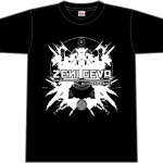 "ZENI GEVA ""Alive and Rising"" T-SHIRT (black / ink: white)"