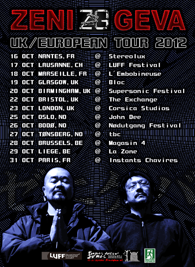 ZENI GEVA UK/EURO tour 2012