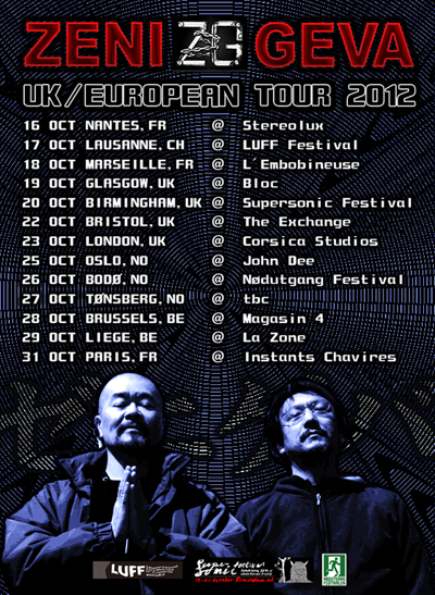 ZENI GEVA - UK/EURO tour 2012