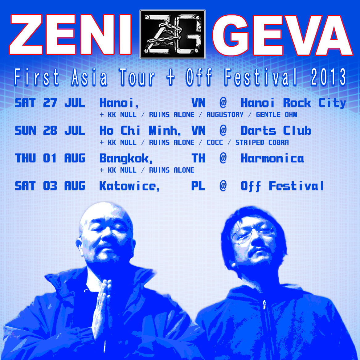 ZENI GEVA first Asia tour + Off festival 2013
